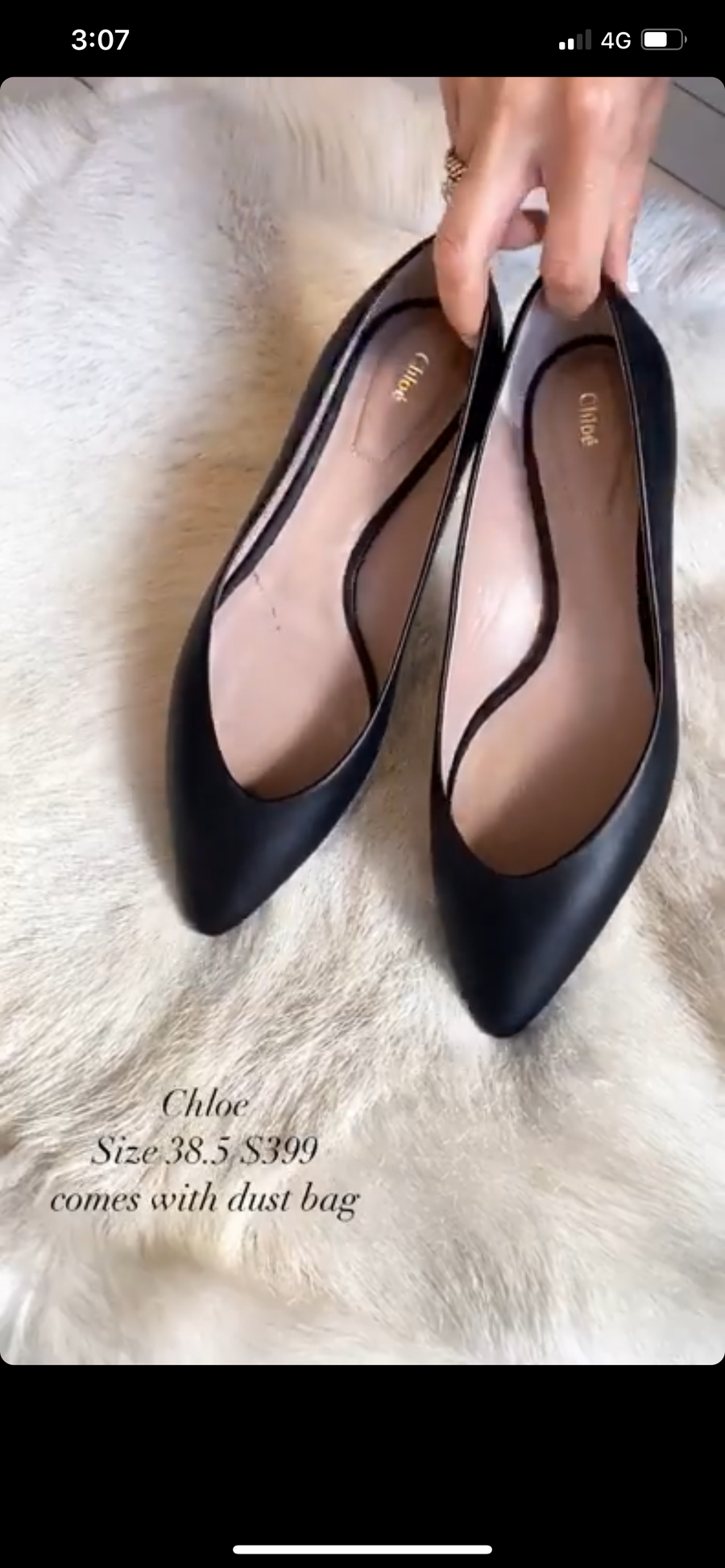 Chloe Pointed black flats CN 1794