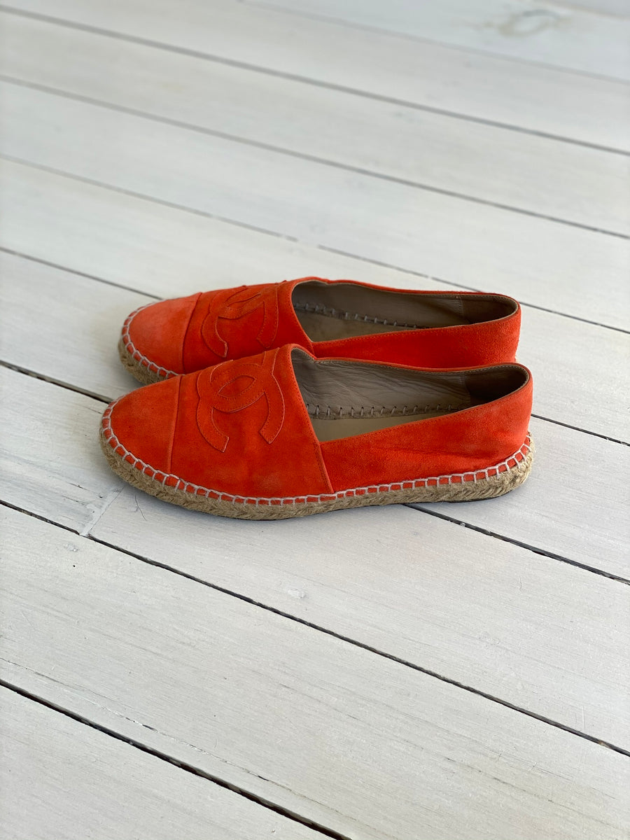 Chanel Orange Espadrilles - Size 38