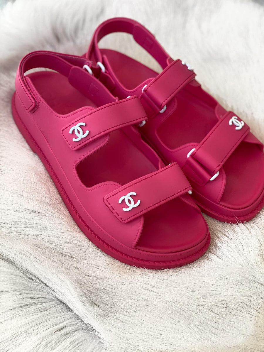 Chanel dad sandals size 38