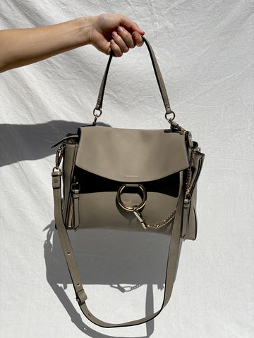 Chloe Grey Large Faye Day Bag