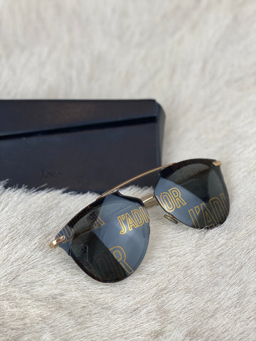 Dior Black Frosted Sunglasses