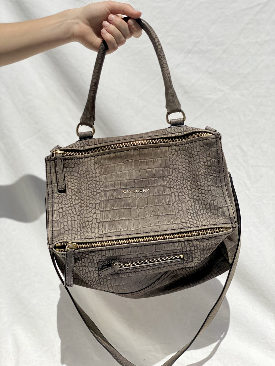 Givenchy Grey Croc Pandora Bag