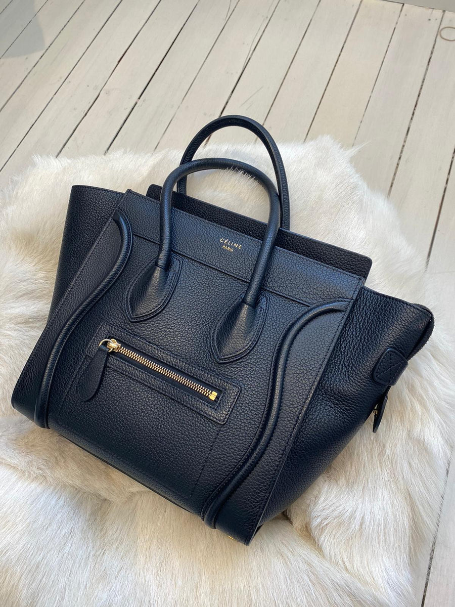 Old Celine luggage tote in black lay by part 1