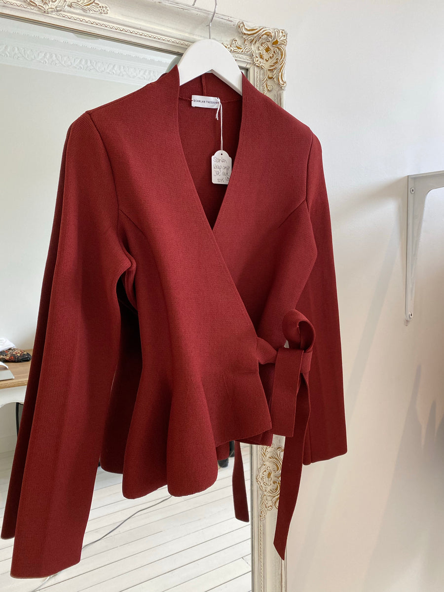 Scanlan & Theodore crepe red jacket size M