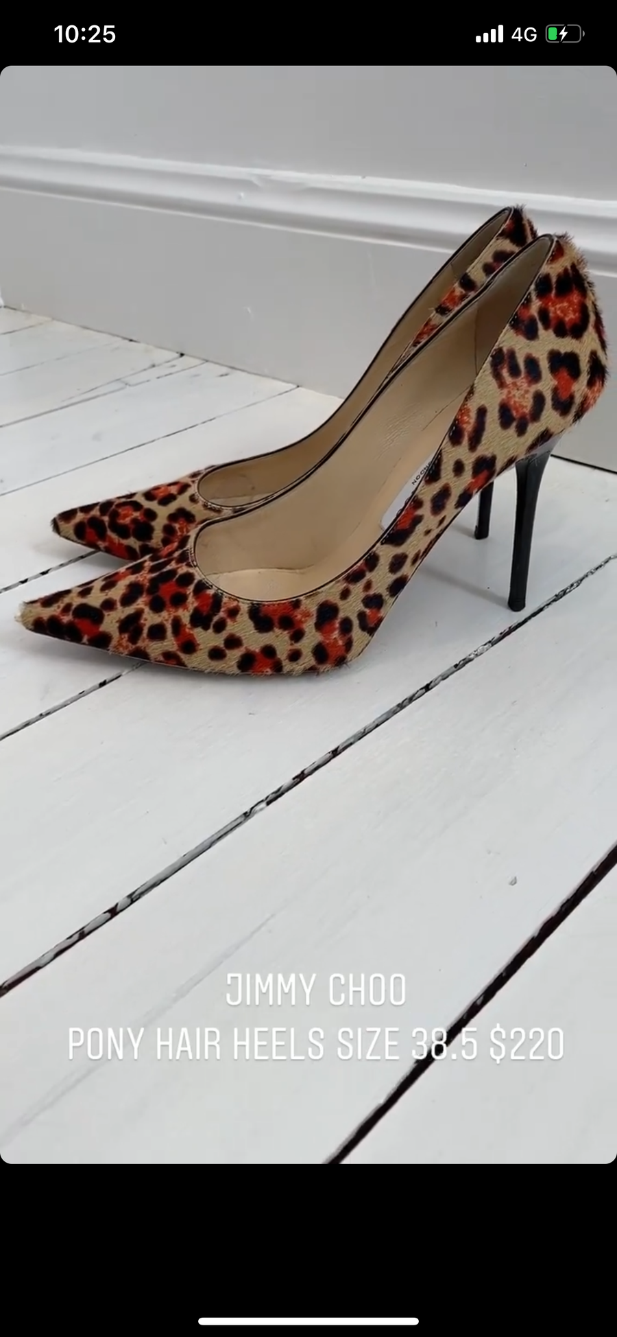 Jimmy Choo animal print heels