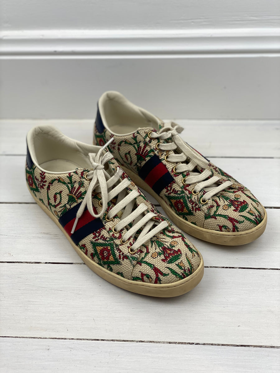 Gucci Canvas Sneakers - 41