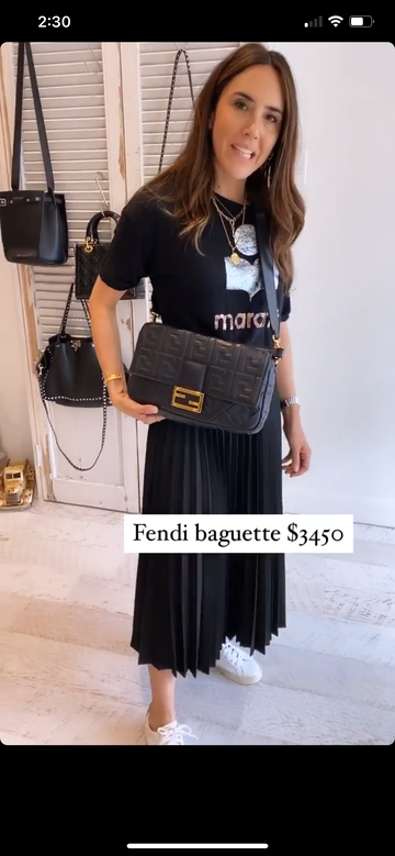 Fendi Baguette bag black