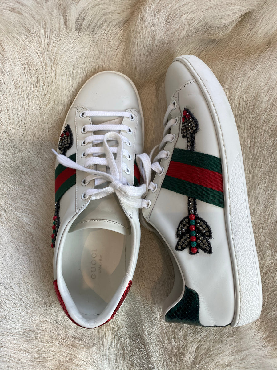 Gucci red and green sneakers