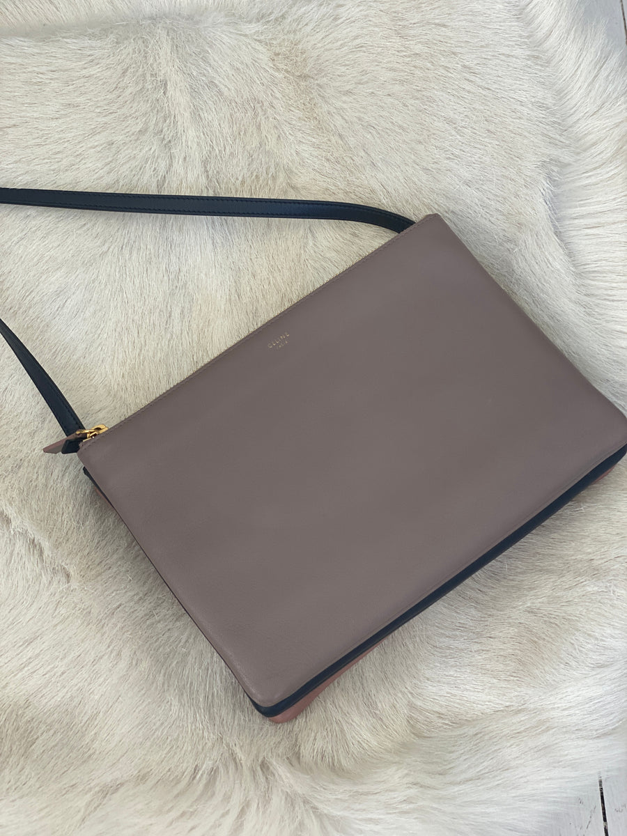 Celine large trio smoke bag
