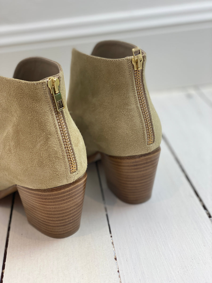 Vince Nude Suede Boots - Size 39
