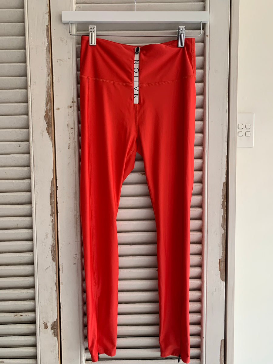 PE Nation red leggings #1028