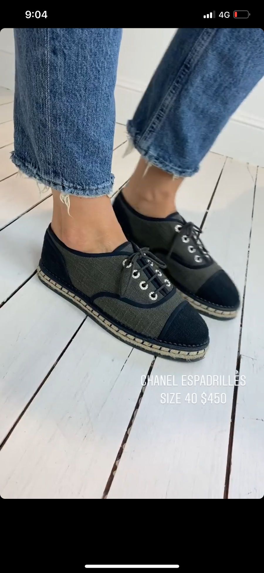 Chanel espadrilles 39 (with box and dust bag)