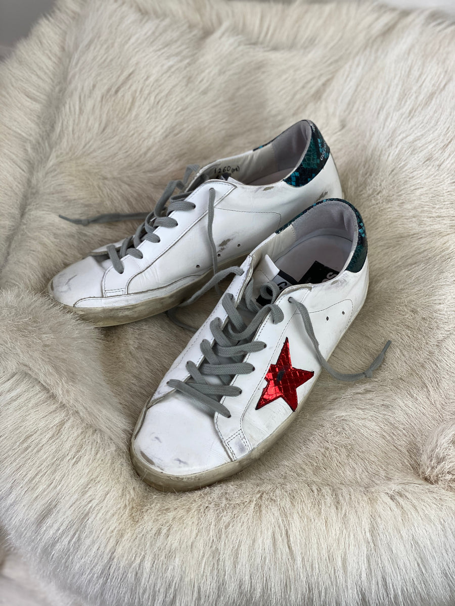 Golden goose sneakers red/green - 41
