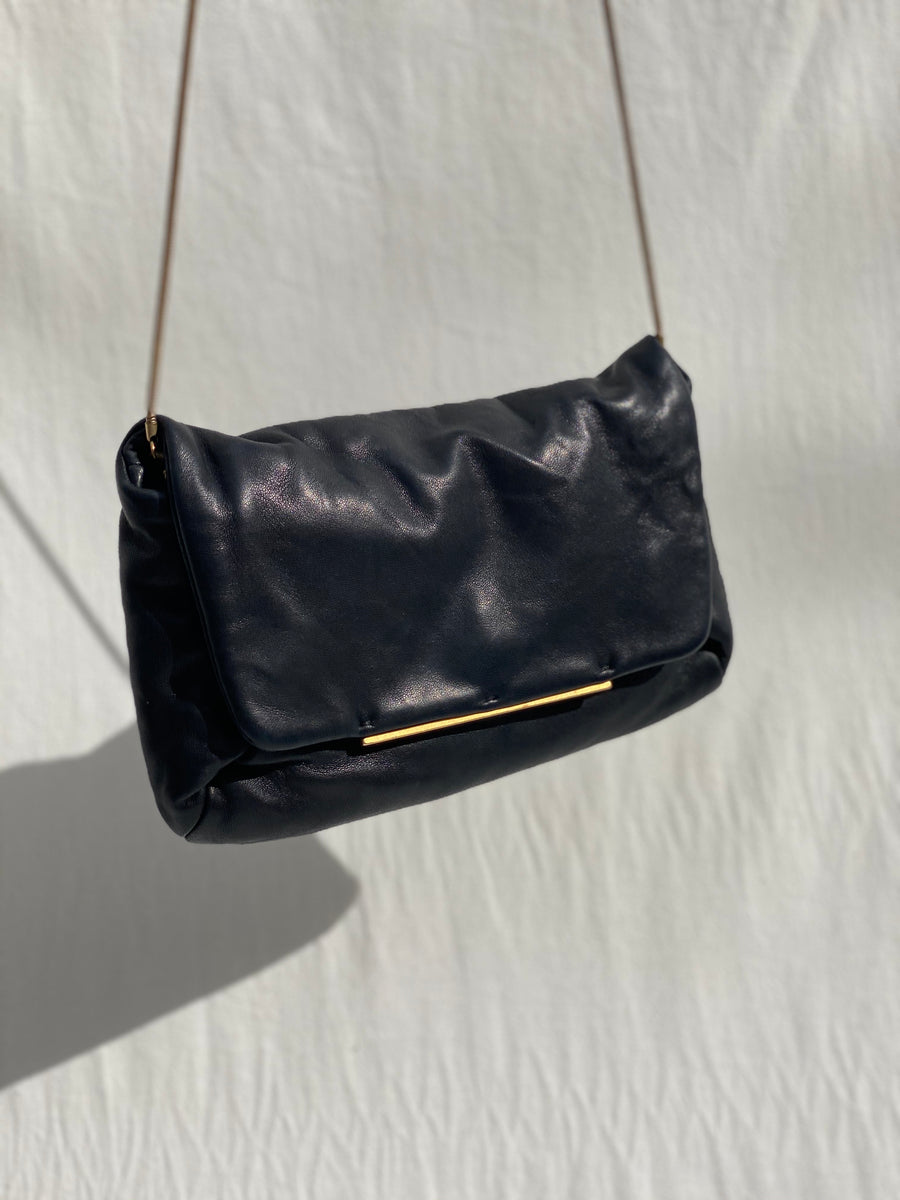 Lanvin Black Leather Flap Bag
