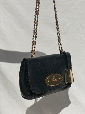Mulberry Black Chain Shoulder Bag