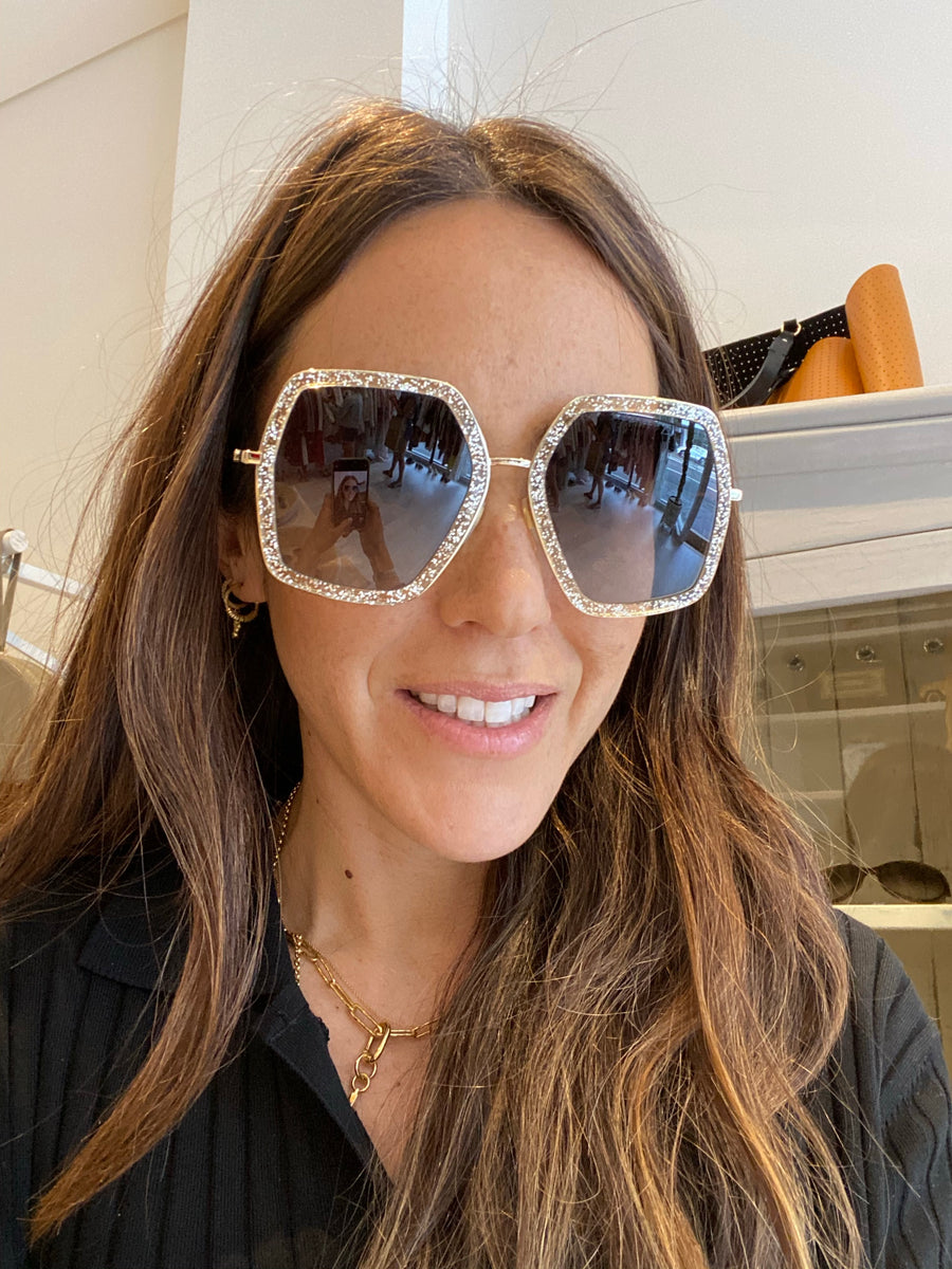 Gucci glitter sunnies with case CN1602