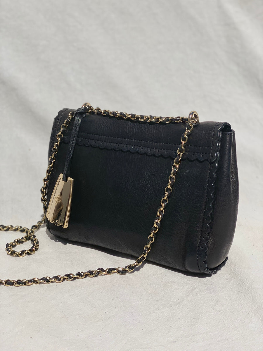 Mulberry Black Chain Shoulder Bag PA