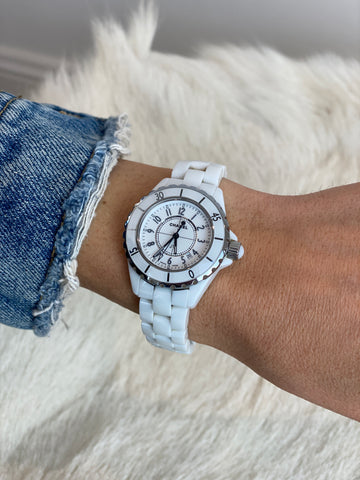 Chanel white watch