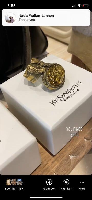 YSL Arty ring gold