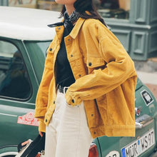Load image into Gallery viewer, Corduroy Yellow Jacket - YELLOW / S