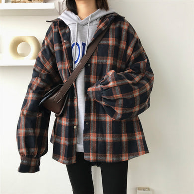 Wide Plaid Lumberjack Shirt