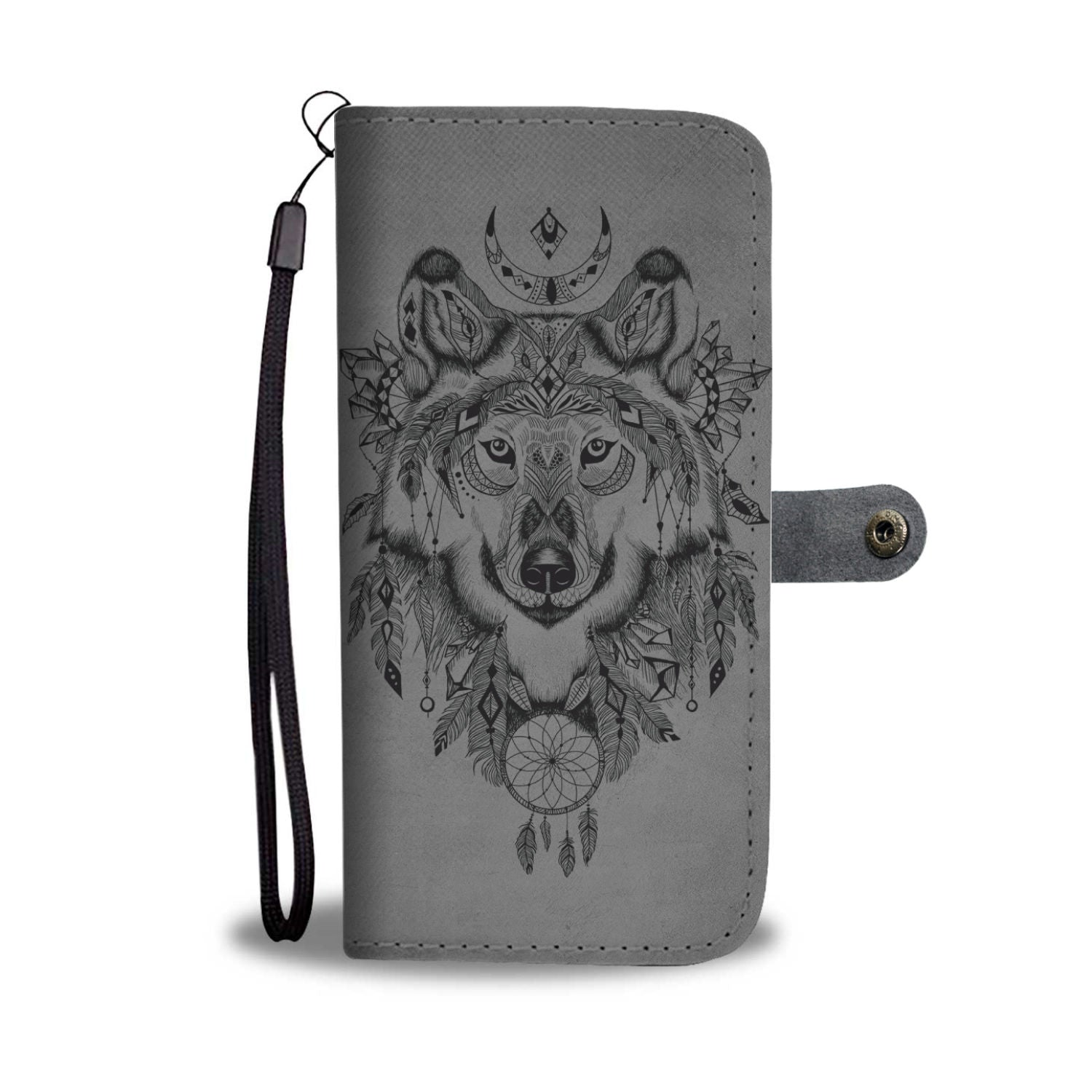 Traumfänger Wolf Geldbörsen Telefon Case - FANCY WOLF   FASHION ... 9b949c005f