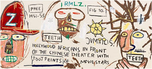"After Basquiat ""Hollywood Africans in Front of the Chinese Theater with Footprints of Moviestars"""
