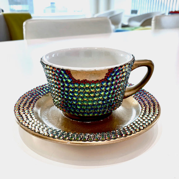 A.Morir, Lady Gaga Swarovski Tea Cup and Saucer, GC Editions