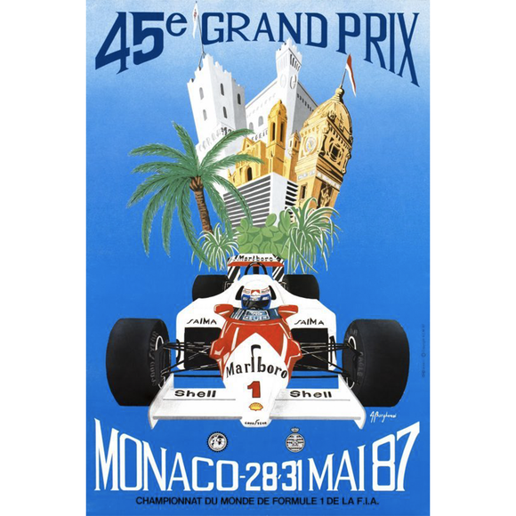 A. Borgheresi, Monaco Grand Prix Racing Poster, GC Editions