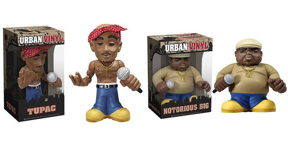 Funko Pop Urban Vinyl, Notorious BIG & Tupac, GC Editions