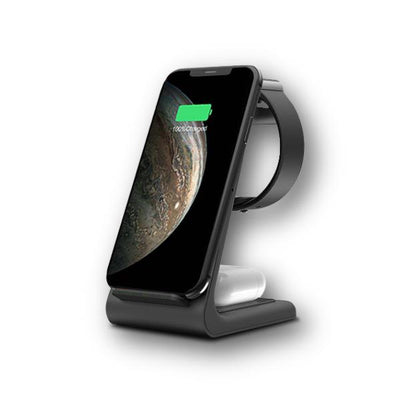 Premium 3 in 1 Fast Wireless Charging Stand for iPhone, Apple Watch & AirPods