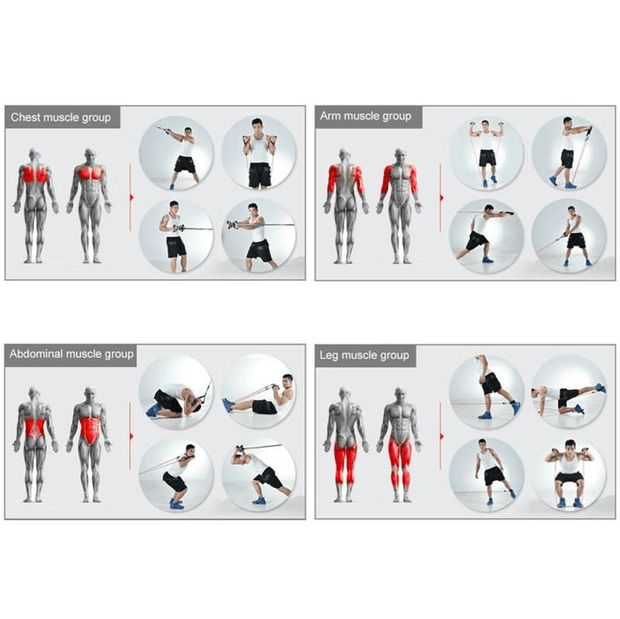 FitBody™ Home Full Body Workout Resistance Band Set