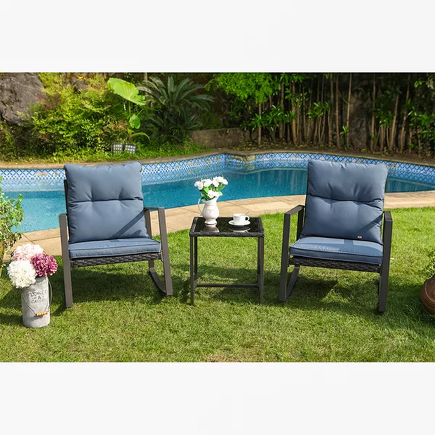 Arlean 3 Piece Bistro Set with Cushions