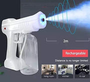 Disinfectant Sprayer Handheld Rechargeable Nano Steam Atomizer 27oz/800ml Portable Electric Sprayer Intelligent ULV Fogger Machine with Blue Light