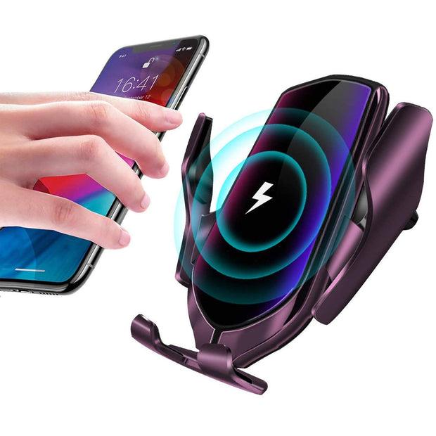 R2 Automatic Clamping Wireless Car Charger, 10W Fast Charging Mount Simple Fast Car Charger