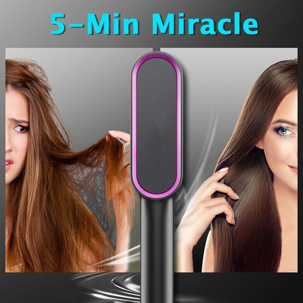 Hair Straightener Brush Hair Straightening Comb