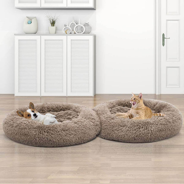 Dog Bed, Comfortable Donut Cuddler Round Dog Bed