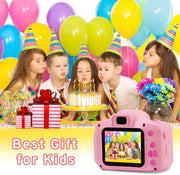 Kids Camera HD 1080P, Digital Video Cameras 1080P for Girls Boys Birthday with 32GB SD Card