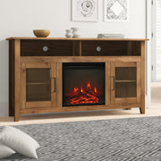 "TV Stand for TVs up to 65"" with Electric Fireplace Included"