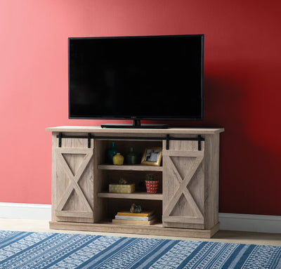 Modern Farmhouse Sliding Barn Door TV Stand for TVs up to 60""