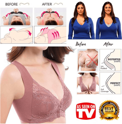 50% OFF TODAY- Front Closure Extra-Elastic Breathable Bra