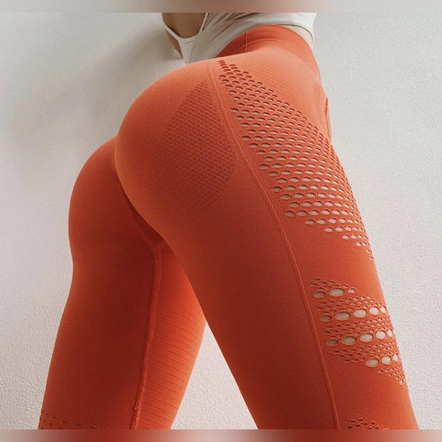 Hollow Out Tight Slimming Leggings