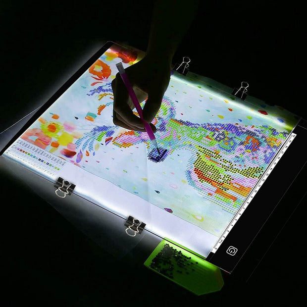 Led Light Tracing Board, A4 Tracing Table Display Adjustable USB Power for Tattoo Drawing, Streaming, Sketching, Animation, Stenciling