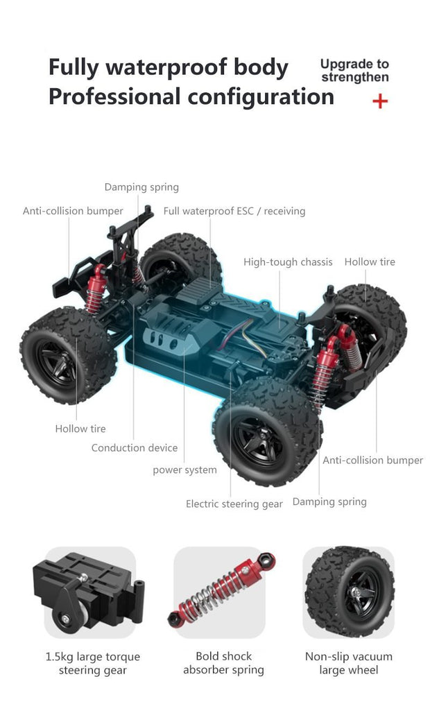 1:18 4WD Remote Control Car - Travel at 30 MPH