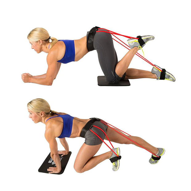 A Demonstration Of A Woman Performing Two Different Types of Workouts With The Tone-Lft™ X5 Resistance Training Bands. | A BuySpotUSA.com Exercise & Fitness Product