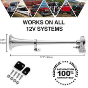 150DB 12V Premium Single Train Horn Kit
