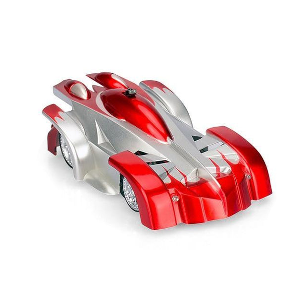 Remote Control Wall Climbing Toy Car - Silver Red
