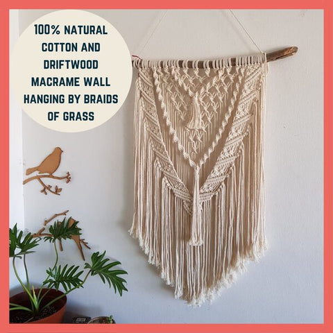 braids of grass macrame wall hanger