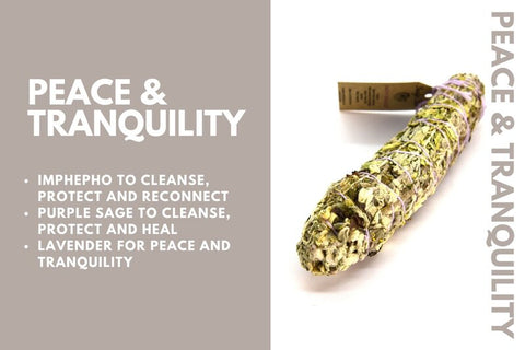 peace and tranquility smudge