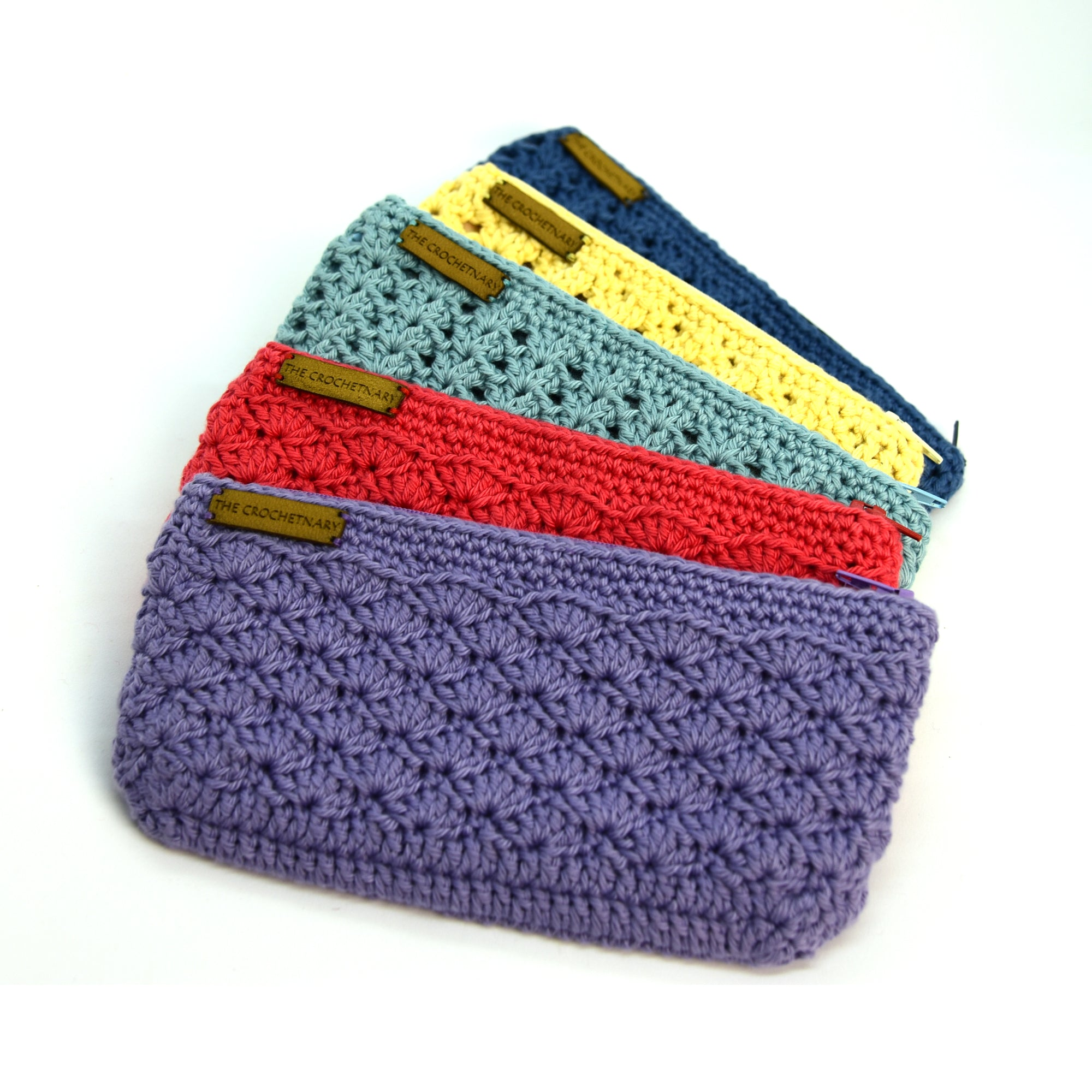 Crochet Pouch - Medium - Lemon